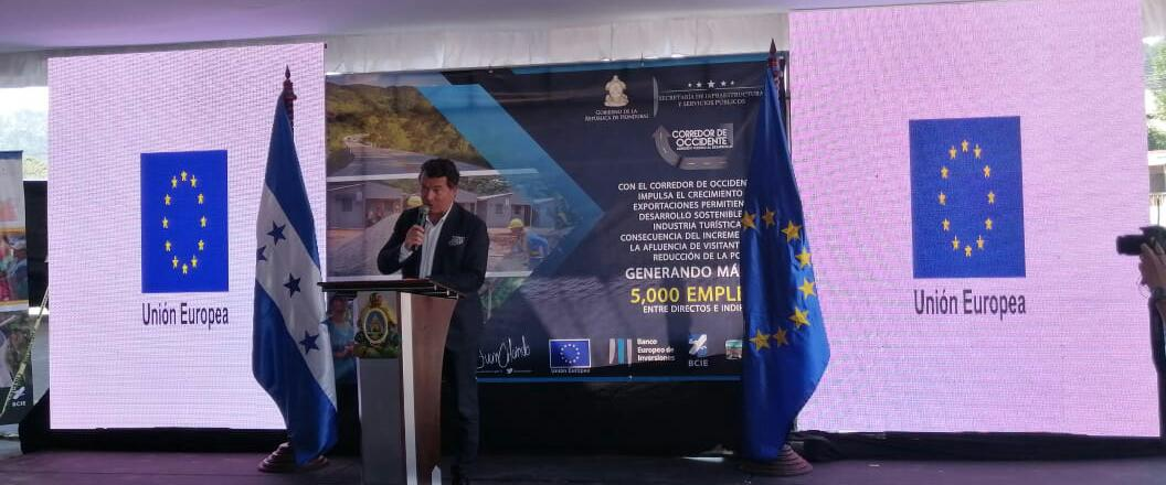 Ambassador of the European Union in Honduras, Alessandro Palmero, at the opening ceremony of the Western Corridor