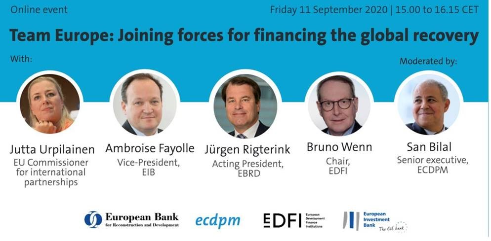 Team Europe: Joining forces for financing the global recovery